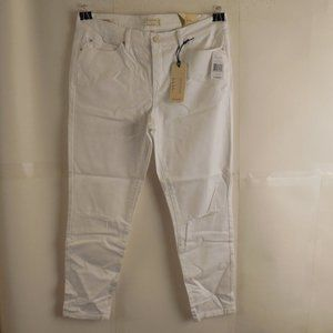Nicole Miller Pure White Skinny Jeans Size 30